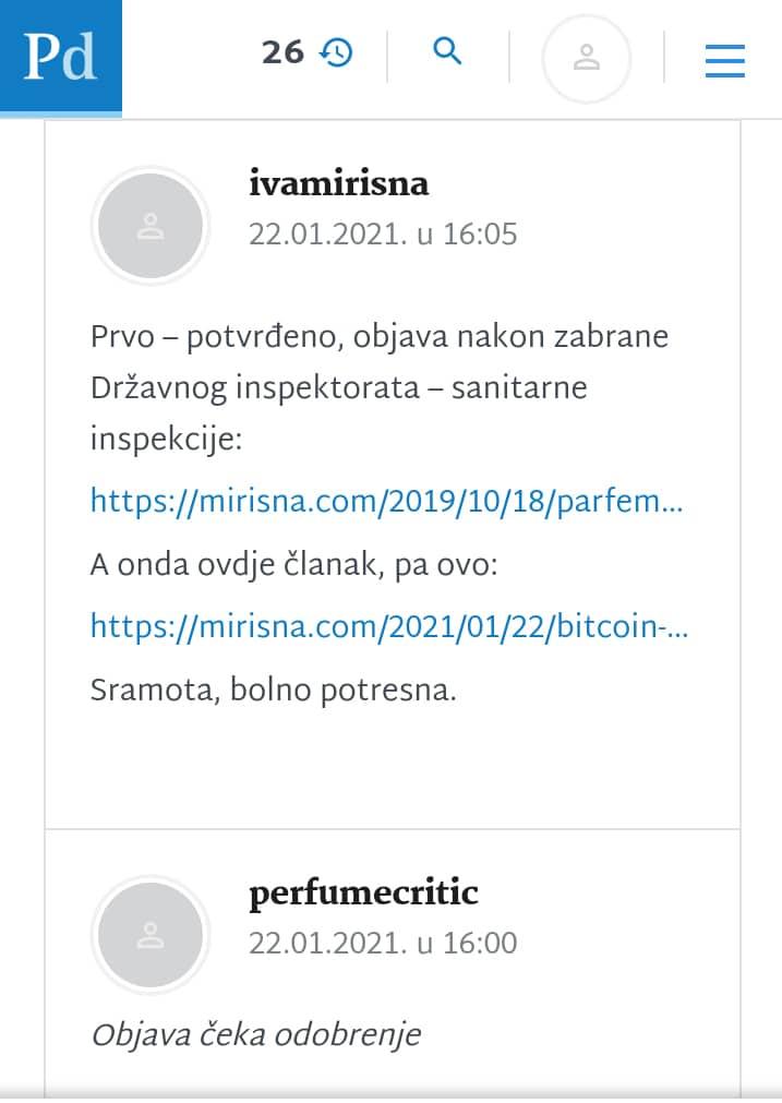 Bitcoin parfem - Poslovni.hr
